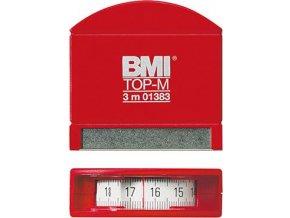 Kapesní svinovací metr BMI s průhledem 2m x 13mm