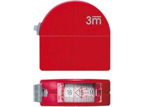 Kapesní svinovací metr Format s průhledem a kružítkem 3m x 16mm