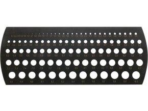 Milimetrová šablona na otvory Format  0,1-10mm/ 0,1mm