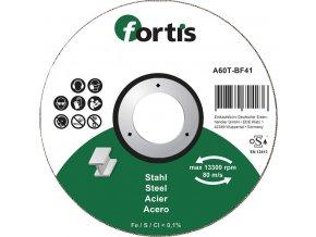 Řezací kotouč Fortis na ocel, prohnutý - 115x2,5mm