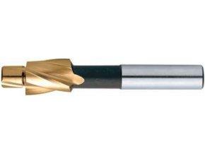 Zarovnávací záhlubník na jádrový otvor Format DIN373 HSS TiN válcová stopka M12