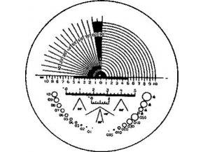 Přesná stupnice pro lupu ESCHENBACH ∅23 mm - typ C