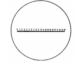 Přesná stupnice pro lupu ESCHENBACH ∅23 mm - typ D