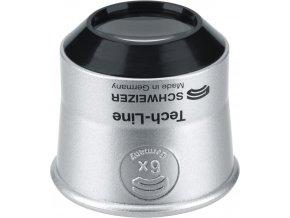 Hodinářská lupa SCHWEIZER Tech-Line ∅22,5 mm - zvětšení 6x