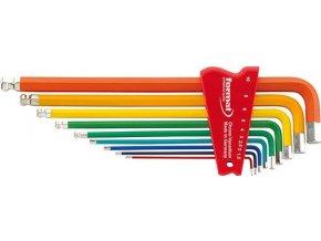 Sada šestihraných inbusových klíčů FORMAT color s kulovou hlavou  1,5-10mm