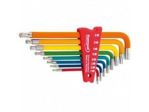 Sada inbusových klíčů Format Torx easy colour s kulovou hlavou T9-T40