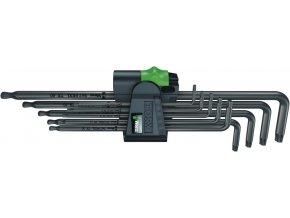 Sada zástrčných klíčů WERA Torx s kulovou hlavou, dlouhé T8-T40