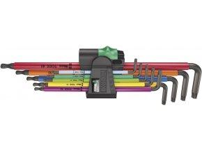 Sada zástrčných klíčů WERA Torx Multicolor 967/9 s kulovou hlavou T8-T40