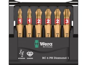 Sada bitů Wera Bit-Check 6 PH Diamond 1 (05057404001)