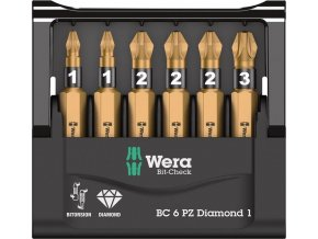Sada bitů Wera Bit-Check 6 PZ Diamond 1 (05057402001)