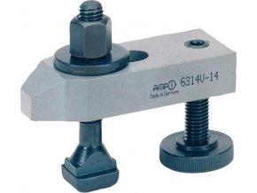 Zešikmená upínka s přestavitelným opěrným šroubem AMF 6314V- M10x10 (70268)