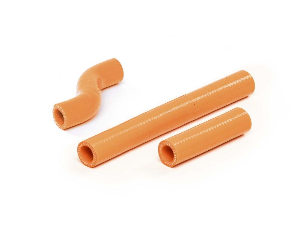 Silikonové hadičky k chladiči oranzova