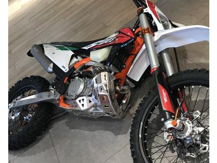 PG05 - Hliníkový kryt výfuku a motoru KTM HUSQVARNA GAS GAS 250 300 EXC TE EC 2T MODEL 2020 - 2022