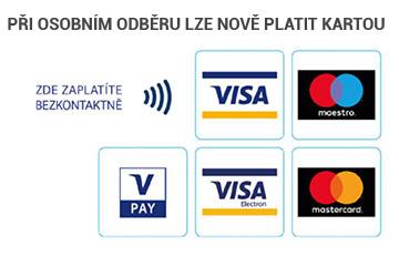 Při osobním odběru nově lze platit kartou