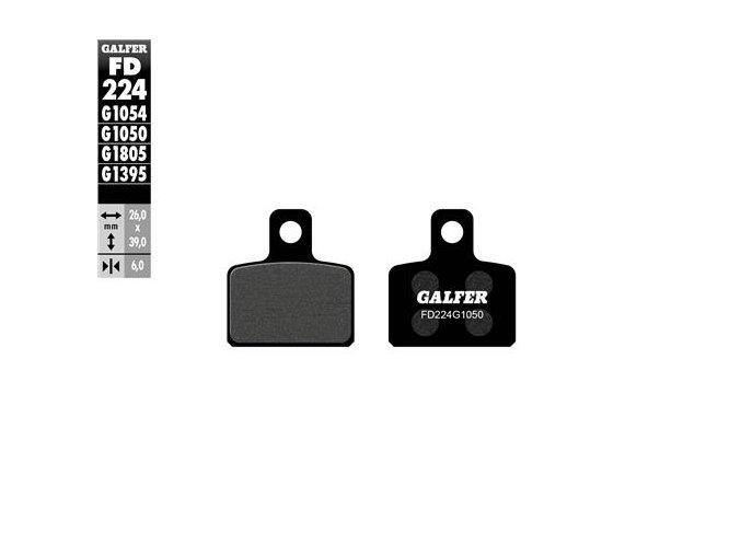 BRZDOVÉ DESTIČKY ZADNÍ GALFER Semi Metal