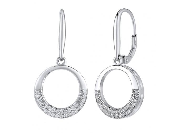 Elegantní kruhové náušnice ze stříbra