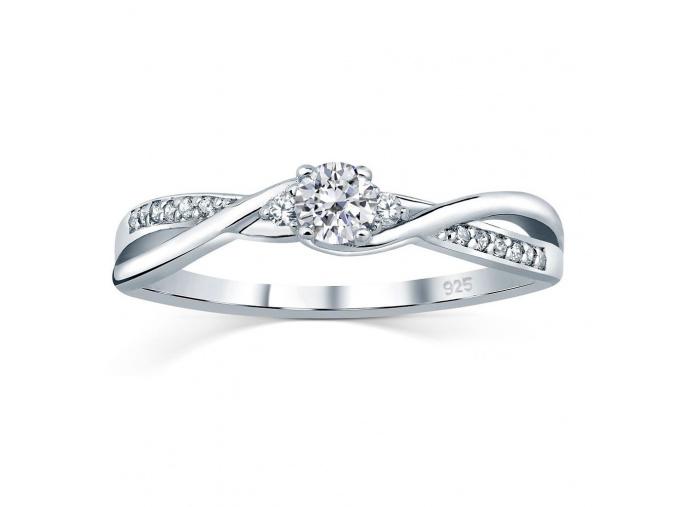 Stříbrný prsten se Swarovski® Zirconia