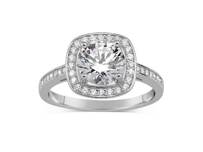 GIO CARATTI stříbrný prsten se Swarovski Zirconia