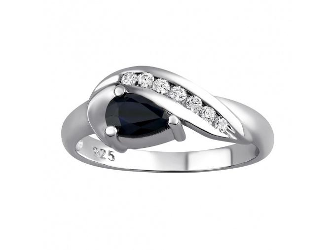 Stříbrný prsten VALERIA se Safírem