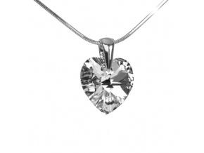 Stříbrný přívěsek Xilion Heart 14mm Argent se Swarovski Elements