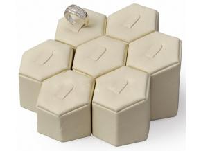 Koženkový set stojanů na prsteny AD-638/A20
