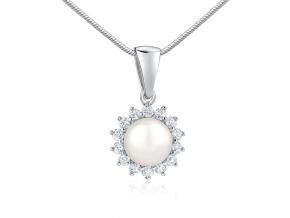 Stříbrný přívěsek s přírodní bílou perlou