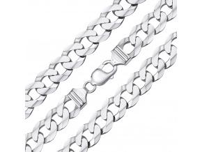 Stříbrný pánský masivní řetěz CURB 13 mm