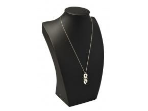 Koženkový aranžovací dekolt na náhrdelníky a řetízky AD-904/A25/L