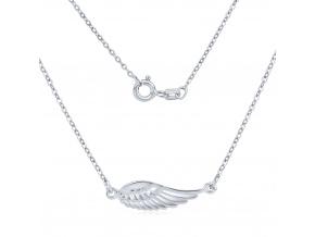 Stříbrný náhrdelník s přívěskem křídla