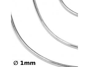 Stříbrný řetízek hádek 1 mm