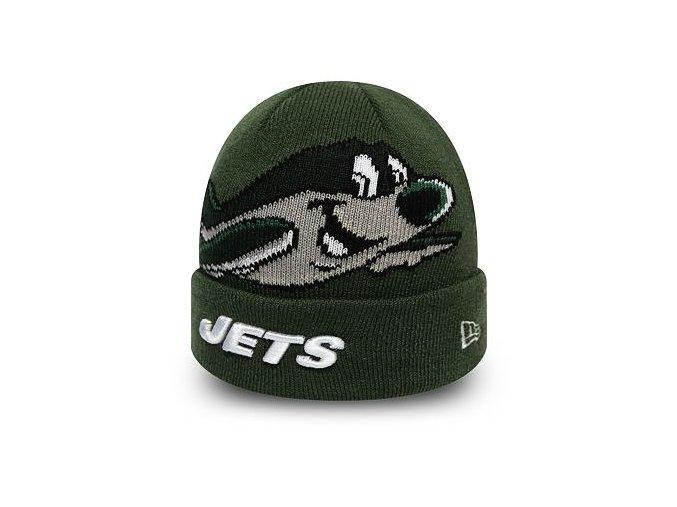 Dětský Kulich New Era New York Jets Infant Mascot Cuff Knit Cilantro Green