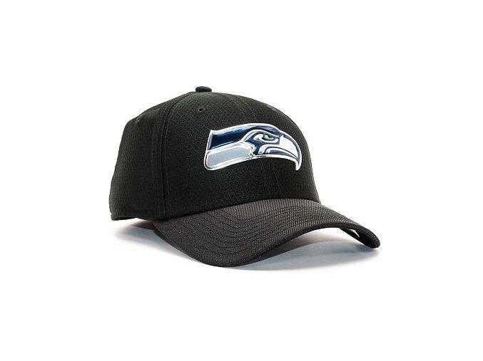 Kšiltovka New Era Black Coll Seattle Seahawks  39THIRTY Black