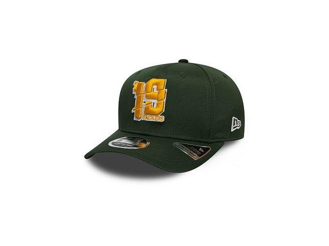 Kšiltovka New Era 9FIFTY Green Bay Packers Stretch Snap Numbers OTC