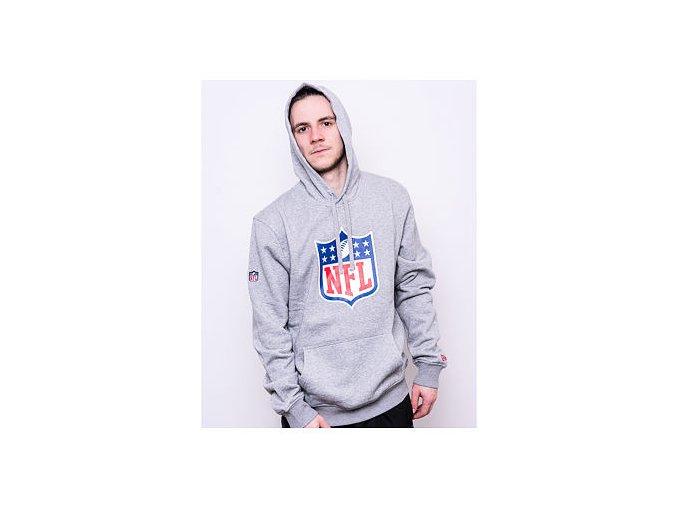 Mikina New Era NFL Logo Po Hoodie Heather Grey
