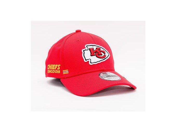 Kšiltovka New Era 39THIRTY NFL20 Sideline Home Kansas City Chiefs Stretch Fit Team Color