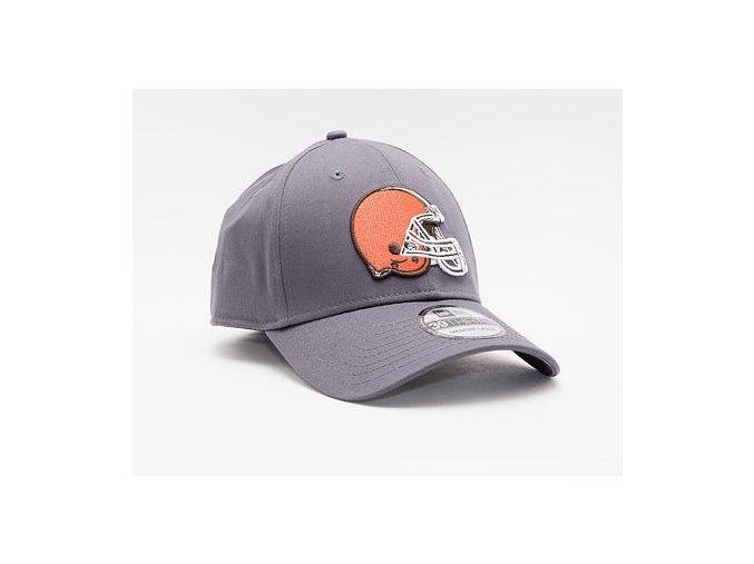 Kšiltovka New Era 39THIRTY NFL Team Cleveland Browns Stretch Fit Heather Graphite
