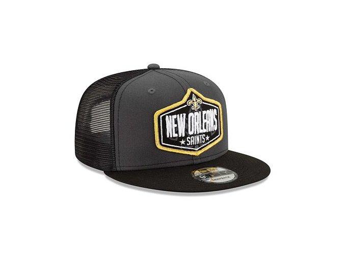 Kšiltovka New Era 9FIFTY NFL 21 Draft New Orleans Saints Snapback Heather Grey / Team