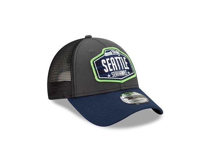 Kšiltovka New Era 9FORTY NFL 21 Draft Seattle Seahawks Snapback Heather Grey / Team