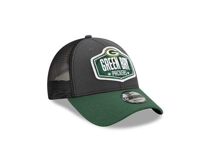 Kšiltovka New Era 9FORTY NFL 21 Draft Green Bay Packers Snapback Heather Grey / Team