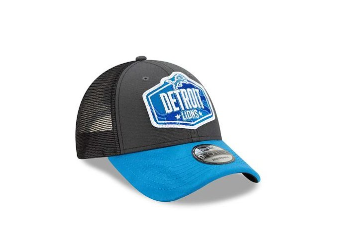 Kšiltovka New Era 9FORTY NFL 21 Draft Detroit Lions Snapback Heather Grey / Team
