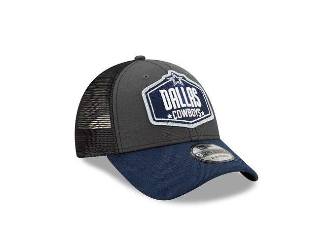 Kšiltovka New Era 9FORTY NFL 21 Draft Dallas Cowboys Snapback Heather Grey / Team