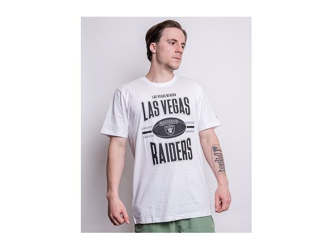 Triko New Era NFL Football Las Vegas Raiders Optic White