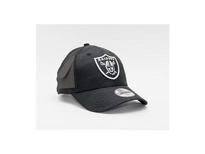 Dětská kšiltovka New Era 9FORTY Trucker NFL Home Field Trucker Las Vegas Raiders Strapback Black
