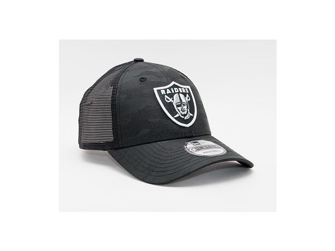 Kšiltovka New Era 9FORTY NFL Home Field Trucker Las Vegas Raiders Strapback Black