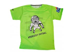 triko Americký fotbal zelena front
