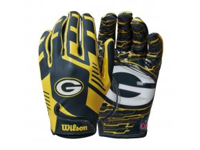 NFL 2020 TEAM Sretch Fit GLOVES AD GB YE GR Double