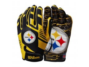 7149c6da0d7960665f67ab59a8383de137fd1af3 WTF9326PT 2 NFL 2020 TEAM Sretch Fit GLOVES AD PT BL GD Double