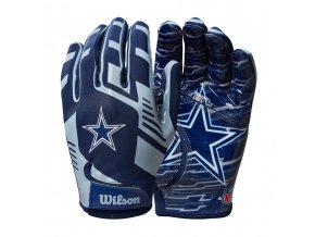 f7cf6946e2a16711664dc975aaa1eb5af7cff662 WTF9326DL 2 NFL 2020 TEAM Sretch Fit GLOVES AD DL Navy GY Double