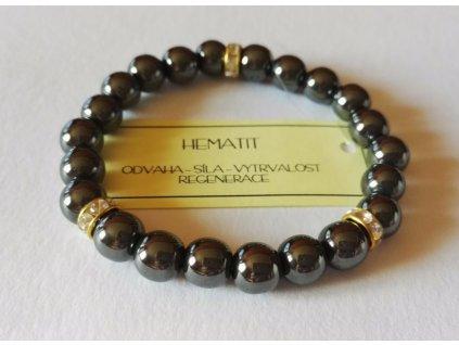 Hematitový náramek, náramek hematit