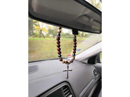 ochrana do auta, talisman do auta, růženec do auta